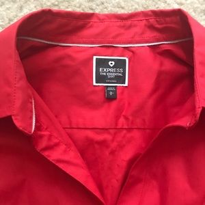 Red Express button up shirt